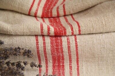 HP 981 antique french linen grain sack grainsack offwhite red stripes