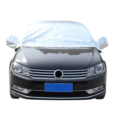 Car Top Half Cover Waterproof Resistant Ice Frost Protection Windscreen w/Hook