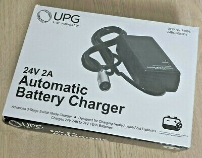 New UPG 24V 2A Automatic Battery Charger 24BC2000T-4, Power Scooter Wheelchair