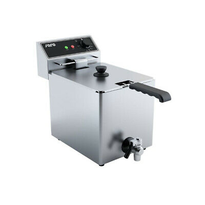 Saro Fryer Ef 8 Litre Tabletop Model with Drain Tap Catering Electric 3000 W