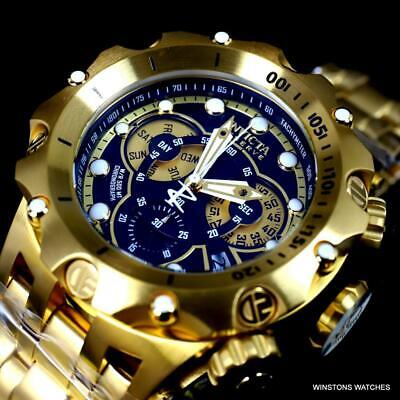 Invicta Reserve Venom Hybrid 52mm Gold Plated Steel Swiss Mvt Charcoal Watch New