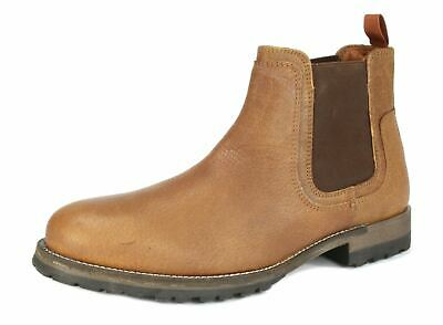 Red Tape Mens Stanway Suede Pointed Leather Ankle Chelsea Tan Brown Black Boots