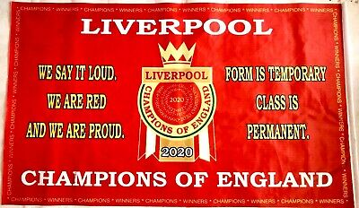 Liverpool Flag Premier League Winners 2020. Champions Banner