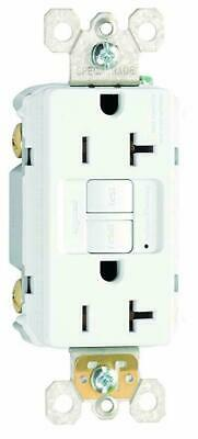 LOT OF 6 Legrand 2097W GFCI Duplex Receptacle, 20A,125 V AC, 60 HZ W/ WALL PLATE