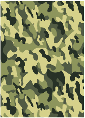 Army Camouflage Rectangle Edible Cake Topper Decoration Personalised
