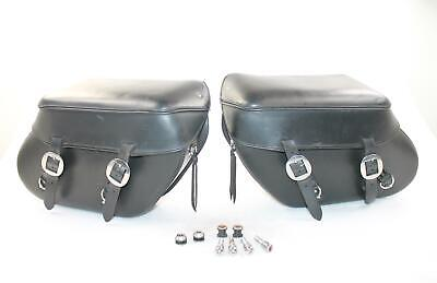 Leather Pros LP3200 Series Softail Quick Release Saddlebag Set