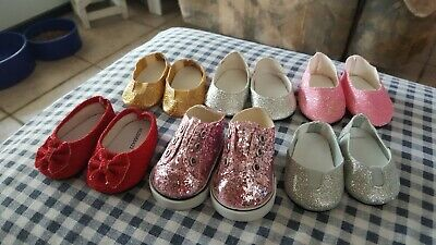 Beautiful American Girl Doll Lot Of Sparkling Shoes (6 Pairs)