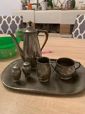SUPERB TUDRIC PEWTER COFFEE SET for LIBERTY # 01384