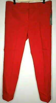 Ann Taylor LOFT Marisa Skinny Ankle Length Pants Red Women's Size 14
