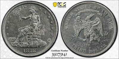 1878-S Trade Silver Dollar PCGS Gold Shield Grade XF45 EF45 XF EF with FREE SHIP