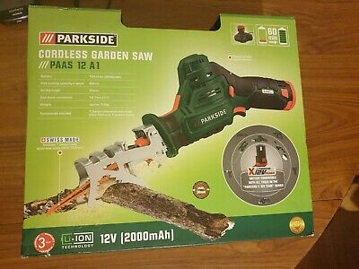 Parkside Cordless Garden Saw PAAS 12 A1 NEW KIT