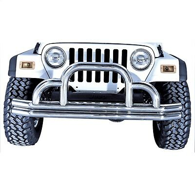 Rugged Ridge 11561.02 Textured Black Front Bumper for 1976-2018 Jeep CJ-5//CJ-7