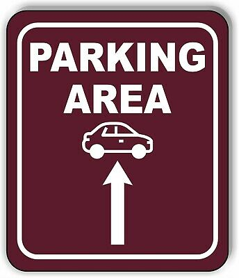 PICK UP THIS WAY RED 8 Arrow Variations Metal Aluminum composite sign
