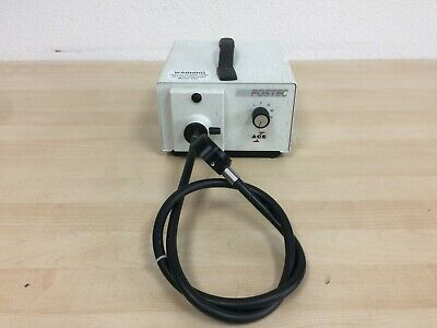 Fostec EKE Ace 20500 Fiber Optic Light Source Illuminator and Head