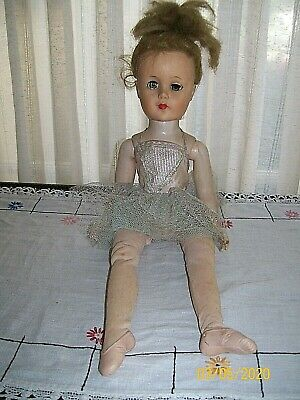 "Vintage AE 1950's 19"" Ballerina Doll ~ Jointed Knees and Ankles"