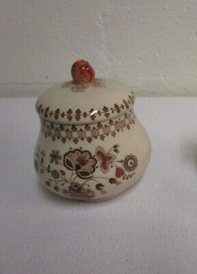 Johnson Brothers JAMESTOWN BROWN SUGAR BOWL with Lid.