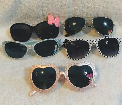 5 Pairs Of Kids Girls Sunglasses Disney World Minnie Mouse Elsa Frozen