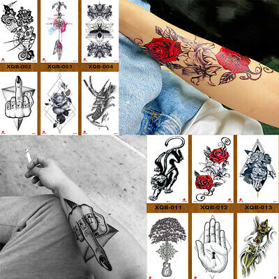 Temporary Tattoos Body Arm Tattoo Sticker Half Sleeve Fake Waterproof