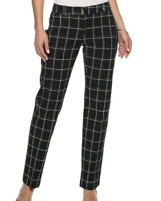 Nwt Womens Apt 9 Torie Straight Leg Midrise Modern Fit Size 14 Dress Pants
