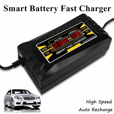 Smart Car Battery Charger Fast Car Charging 240V To 12V 6A Power Bank Portable
