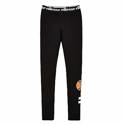 Ellesse Heritage Fabi Youth Kids Girls Legging Tight Trouser Black