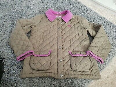 Mini Boden Girls Quilted Coat Age 9-10 EuC
