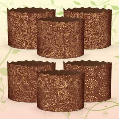 Set 6 Easter Bread Parchment Baking Paper Molds Paska Kulich Panettone Cakes