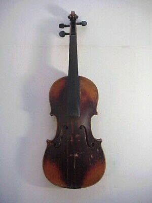 WILHELMJ Antique 19th Century Finely Made VIOLIN with DECORATED Sides & Back #17