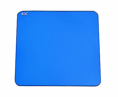 """Cool Tungsten Blue Kood /""""P/"""" Size Blue Square 80A Filter For Cokin 84mm Holders"""