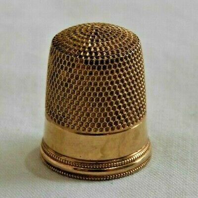 Antique 14K Yellow Gold Sewing Thimble - 2.8 Grams