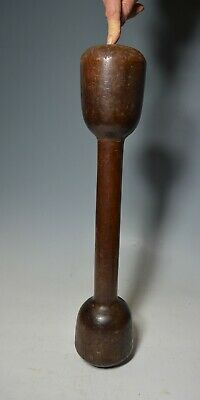 Rare Old  Oceanic Polynesian Double headed hard wood pestle pounder