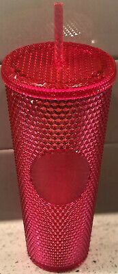 STARBUCKS 2019 Holiday PINK Studded Limited Edition Tumbler Cold Cup STUNNING!