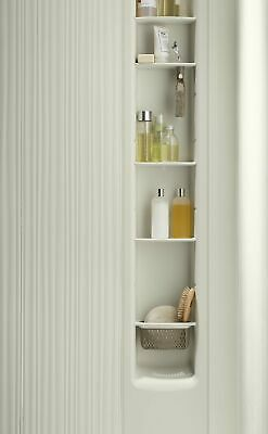 "KOHLER K-97630-NY Choreograph 9"" Shower Locker Storage Dune Four Shelves"