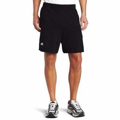 Russell Athletic Men's Cotton Baseline Short with Pockets, Black, XX-Large, NWT