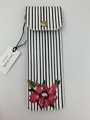Vera Bradley Pen Pouch Water Bouquet Stripe Elastic to fit on Agenda/Planner