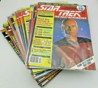 Star Trek the Next Generation Magazine Issue Numbers 1-18, 1987-1992