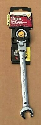 NEW Gearwrench 2193118 Metric Flex Head 12PT Ratcheting Combination Wrench 11MM