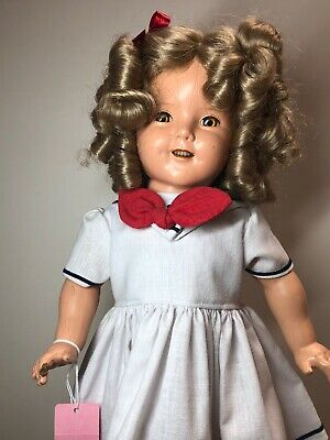 "18"" Vintage Antique Shirley Temple Type Doll Composition Redressed & New Wog  #S"
