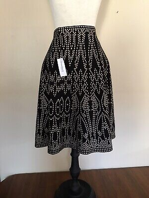 NEW with Tags Dress Barn ROZ & ALI Black White Skirt, Sz Medium BEAUTIFUL!
