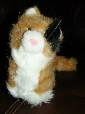 """American Girl Doll Pet Cat Ginger Calico Kitty Collar Poseable Tail Plush 5"""""""