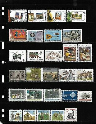 World, Collection lot of 200 MNH all different worldwide stamps see 9 scans #11