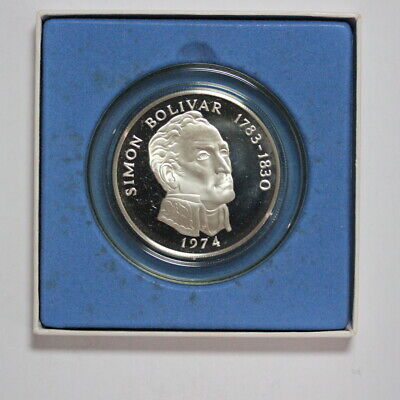 1974 Panama Sterling Silver Crown 20 Balboas Proof (3351663/D2)
