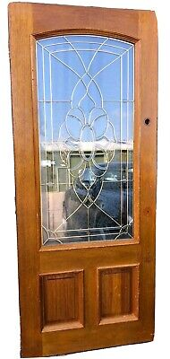 Victorian Style Hardwood Door With Bevelled Feature Glass