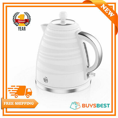 Swan Symphony 1.7 Litre Jug Kettle With Rapid Boil, 3000 Watts White SK31050WN