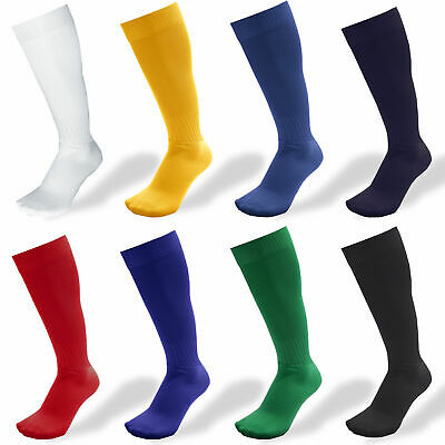 2x Mens Ladies Kids Football Socks Rugby Hockey Soccer Sports Socks Plain Long