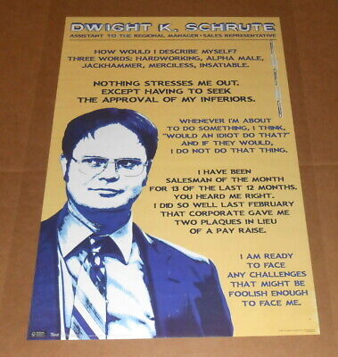 The Office Corporate Ladder Movie Poster 34x22 Dwight K. Shrute RARE