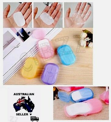 Soap Flakes Travel Portable School Pocket Quick Clean Hand Wash Tool AUS STOCK