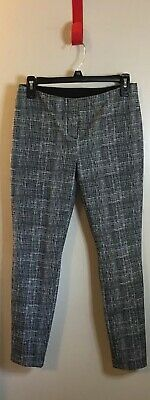 ALFANI Women's 6P Black/White Stretch Slim Crop Office-Wear-Dress Pants NWOT