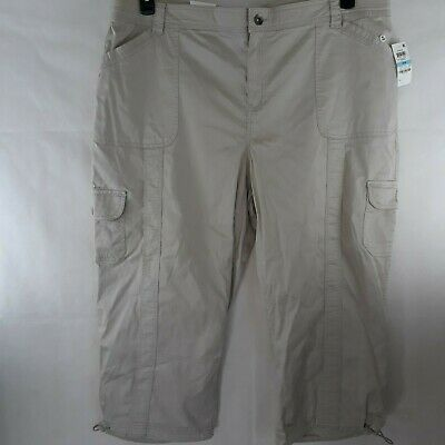 Style & Co. Womens Capri Mid-Rise Cargo Pants Plus WP-126