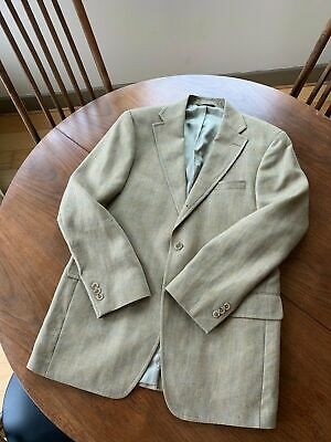 J. Press - Light Brown Herringbone and Windowpane Sport Coat - 39R